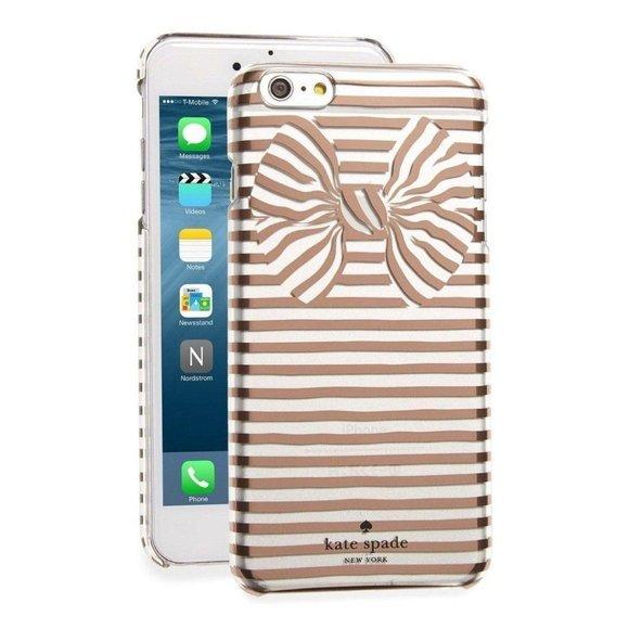 Kate Spade Gold Metallic Striped iPhone Case